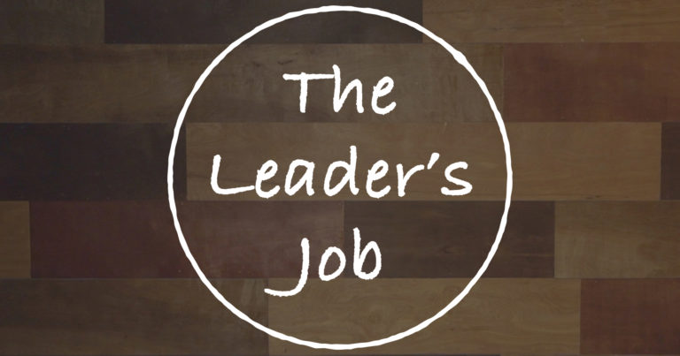 The Leader's Job